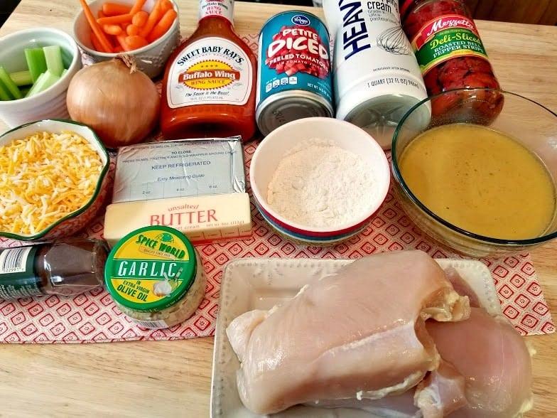 Crockpot Buffalo Chicken Soup Ingredients