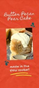 Butter Pecan Pear Cake