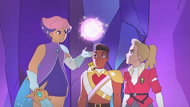 Glimmer, Bow and Adora She-Ra and the Princesses of Power