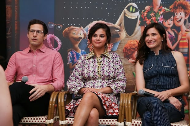 Hotel T3 Press Conference Selena Gomez Andy Samberg Kathryn Hahn