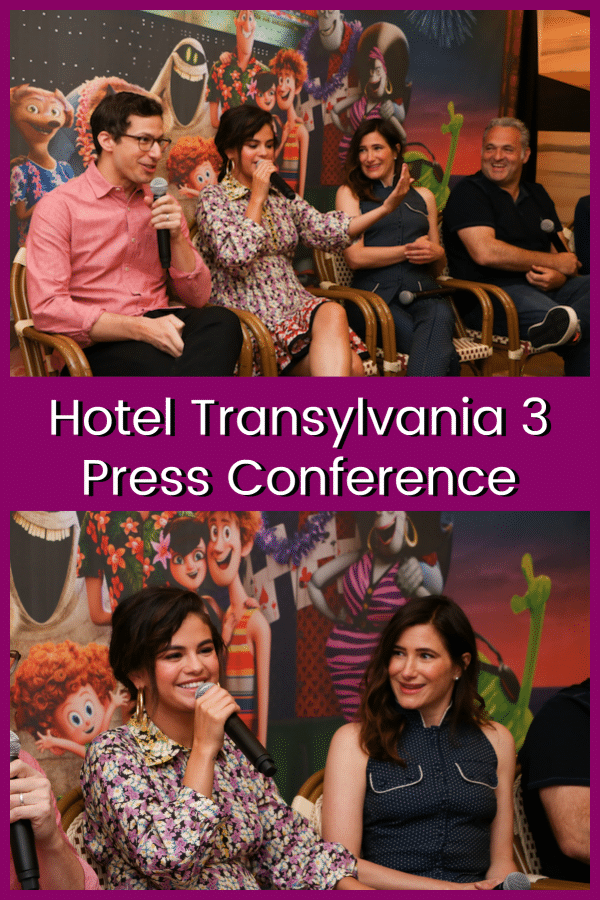 Hotel Transylvania 3 Press Junket Samberg, Gomez, Hahn