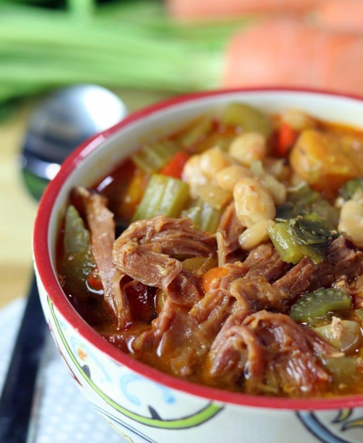pork and chorizo bean stew