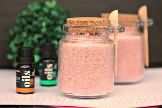 Homemade Pink Himalayan SaltScrub Recipe