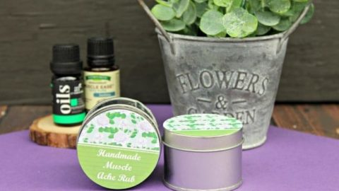 Handmade Essential Oils Muscle Ache Rub