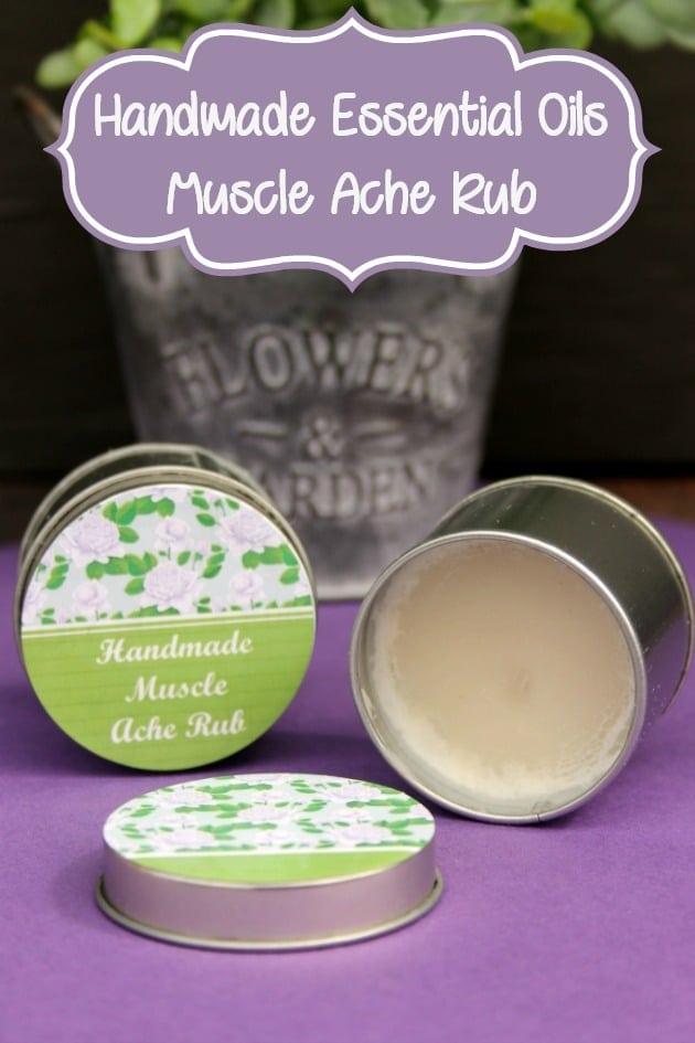 Handmade Essential Oils Muscle Ache Rub pin