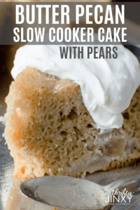 Slow Cooker Butter Pecan Pear