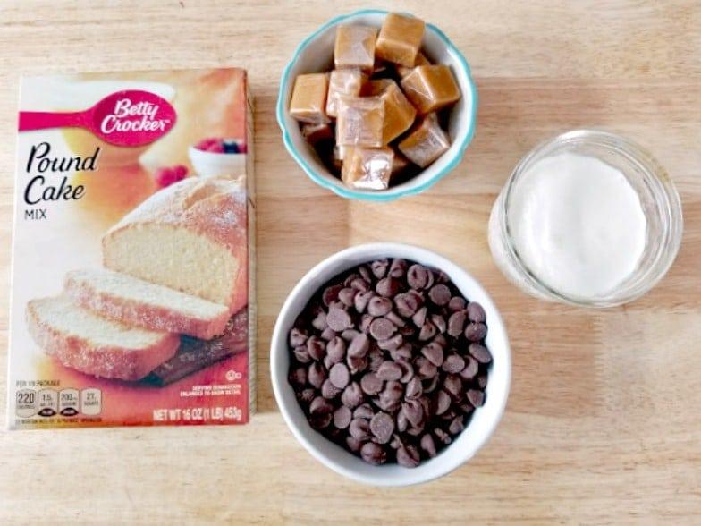 Twix Candy Bar Bundt Cake Recipe Ingredients
