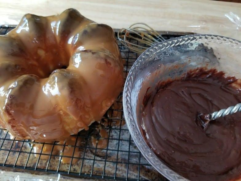 Twix Candy Bar Bundt Cake Recipe Step 6