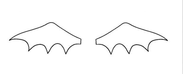 bat wing template