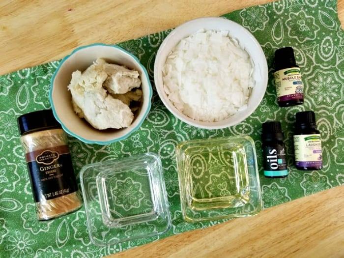 Handmade Essential Oils Muscle Ache Rub supplies