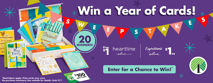 Dollar Tree Hallmark Sweepstakes