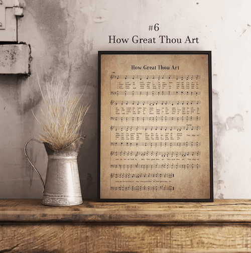 Hymn Print How Great Thou Art