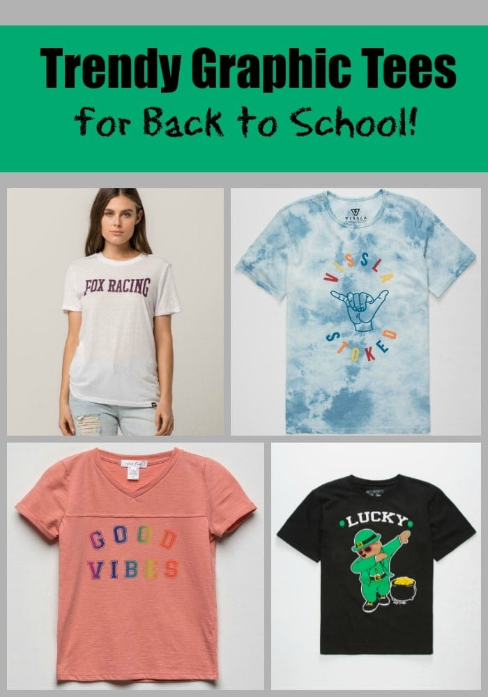 Trendy Graphic Tees for Back to School