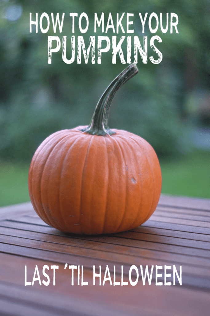 How to Make Your Pumpkin Last Until Halloween