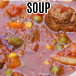 INSTANT POT MEATBALL AND POTATO SOUP