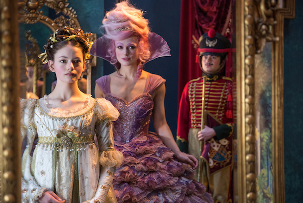 Mackenzie Foy is Clara and Keira Knightley is the Sugar Plum Fairy in Disney's THE NUTCRACKER AND THE FOUR REALMS