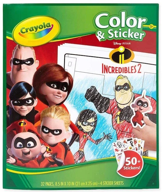 Crayola Incredibles 2 Color & Sticker Book
