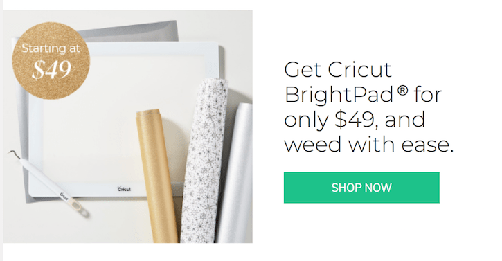 Cricut BrightPad Black Friday