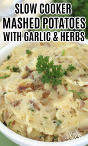 Crockpot Garlic Herb Mashed Potatoes