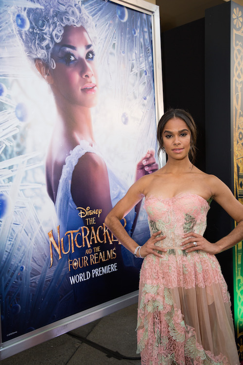 "Misty Copeland arrives at the world premiere of Disney's ""The Nutcracker and the Four Realms"""