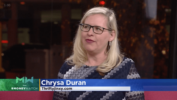 WCCO November Chrysa Duran Thrifty Jinxy