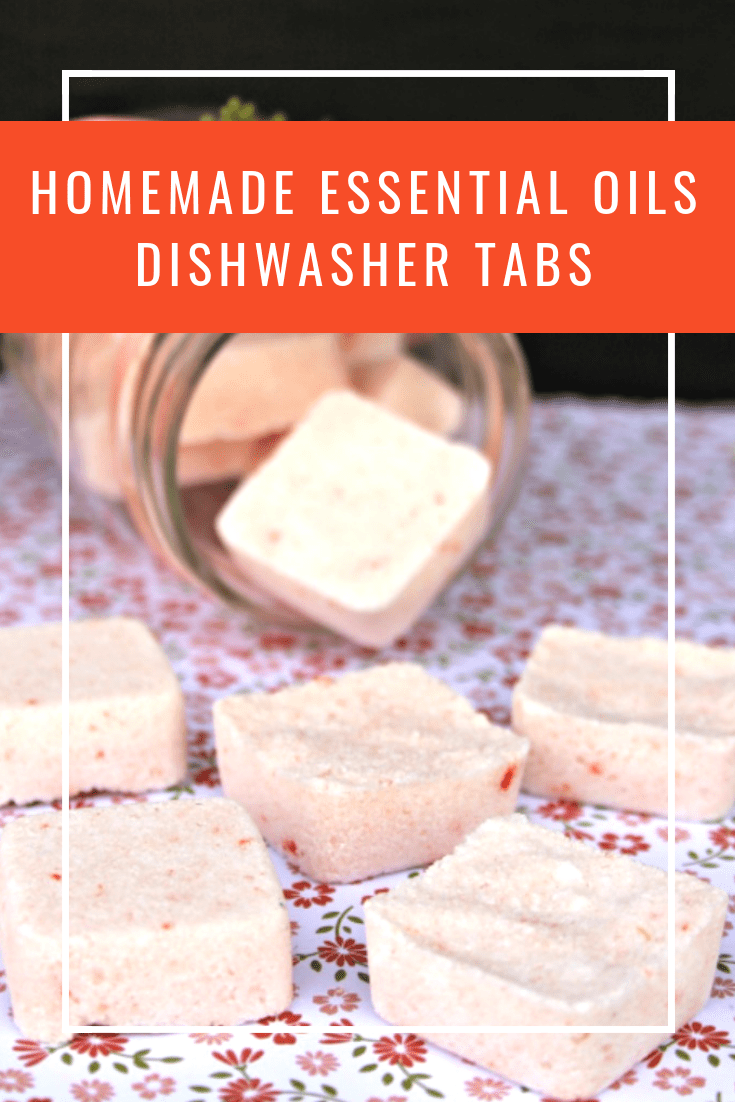 This DIY dishwashing tablets recipe is easy to make with a few simple ingredients and gets your dishes CLEAN! #DIY #dishwasher #homemadecleaning #cleaning #essentialoils