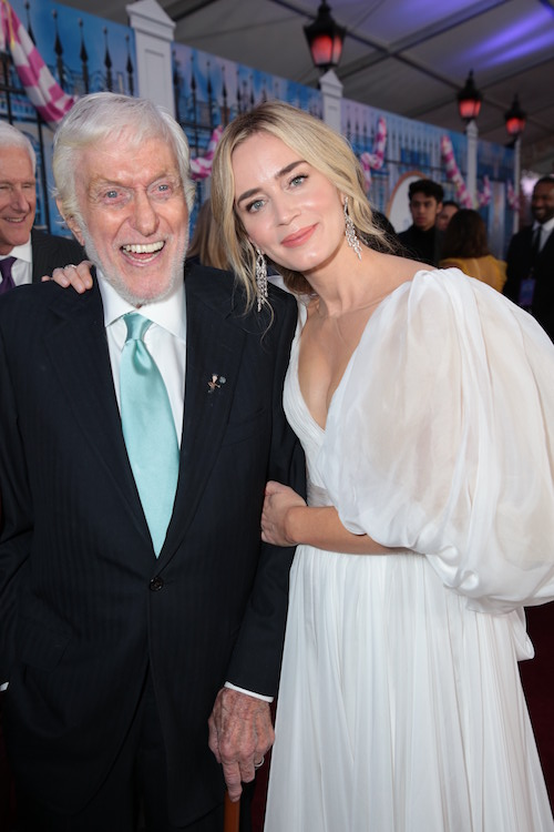 Dick Van Dyke Emily Blunt Mary Poppins Returns Premiere