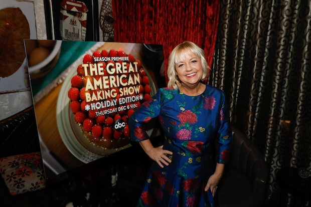 "GREAT AMERICAN BAKING SHOW - Sherry Yard and Emma Bunton of ""The Great American Baking Show Holiday Edition"" at a Special Screening of the Season Four Premiere Episode at the IPIC Theater in NYC, 12/3/18. The season premiere airs Thursday, 12/6/18 at 9PM on ABC. (ABC/Heidi Gutman)"