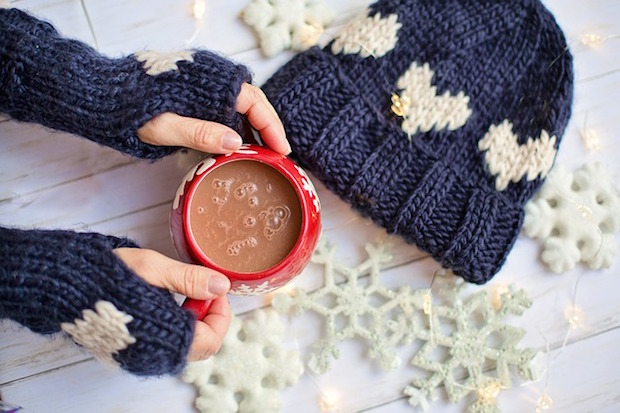 Hot Chocolate with Mittens