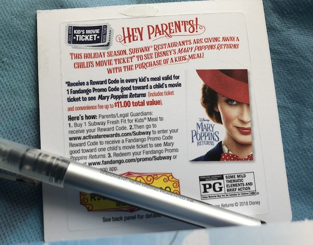 Free Mary Poppins Kids Movie Ticket