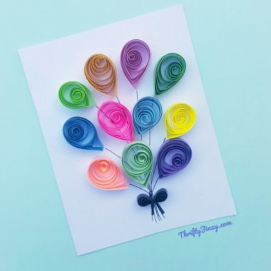 Mary Poppins Returns Balloons Paper Quilling Craft