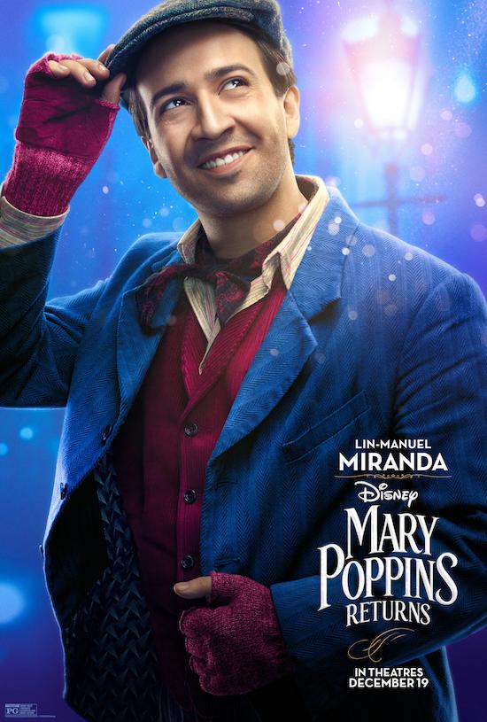 Mary Poppins Returns Lin-Manuel Miranda Movie Poster