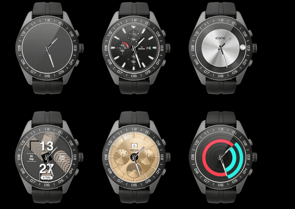 LG W7 Smart Watch Face Options