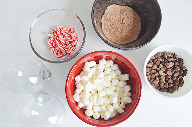 hot chocolate ornament ingredients