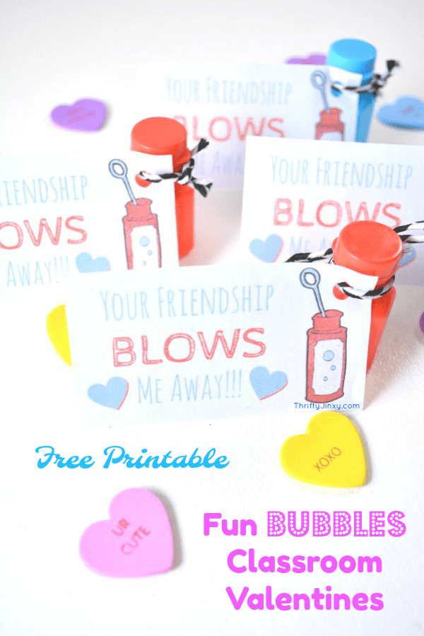 Bubbles Classroom Valentine Cards