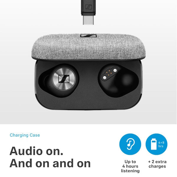 Sennheiser MOMENTUM True Wireless Earbud Headphones Case