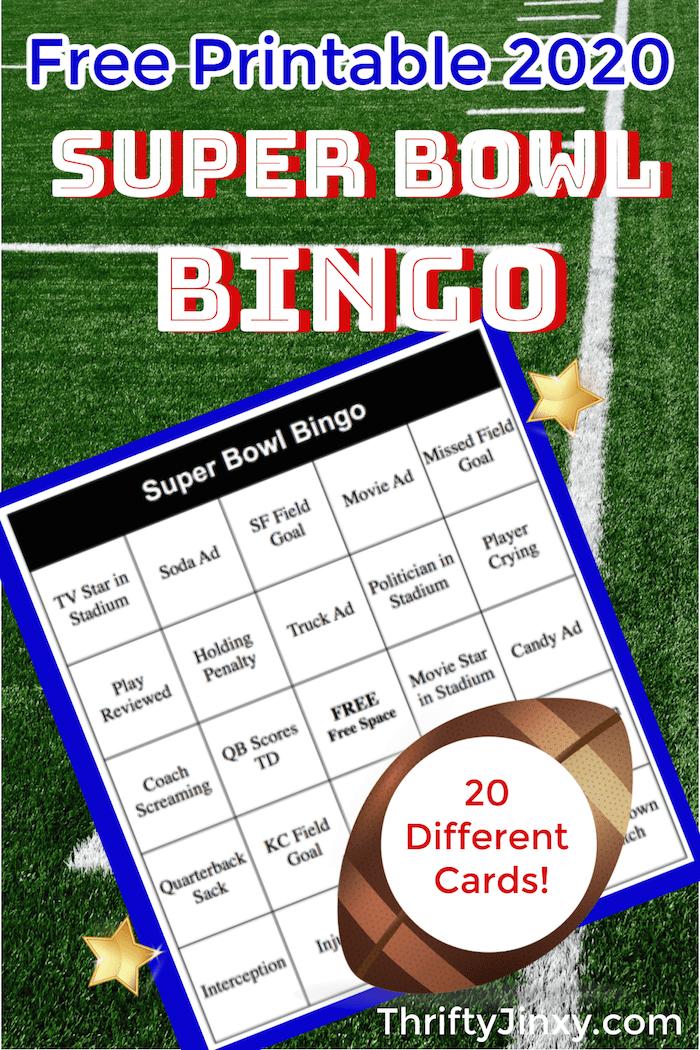 Super Bowl Bingo 2020