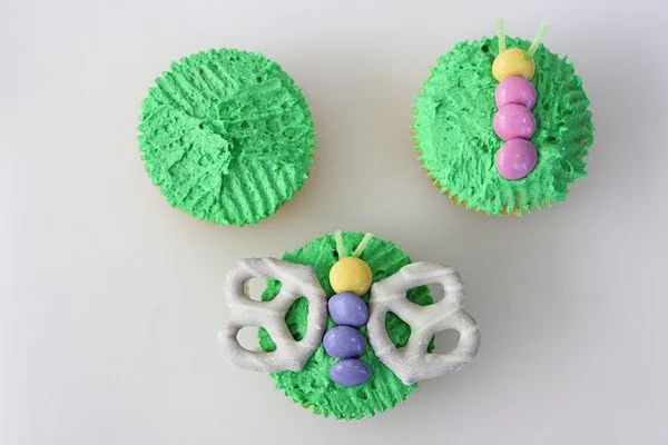 Making Spring Butterfly Cupcakes