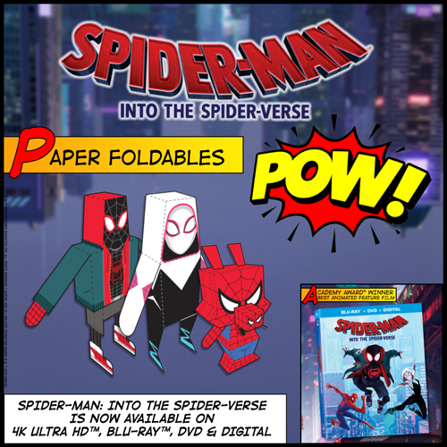 Spider-Man Into the Spider-Verse Paper Foldables