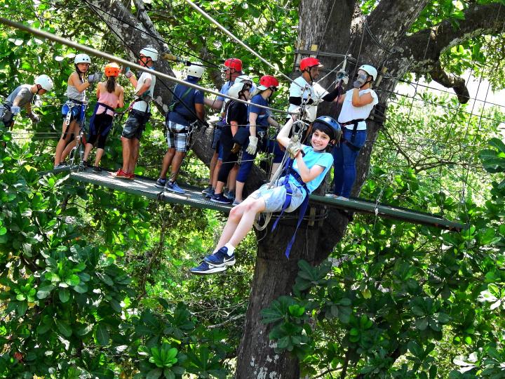 Congo Trail zip Line Platform