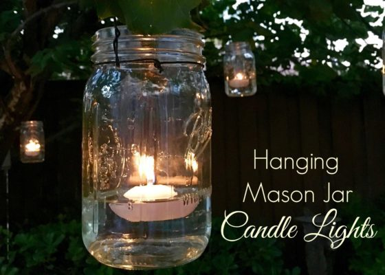 DIY Hanging Mason Jar Candle LightsDIY Kitchen Herb Garden