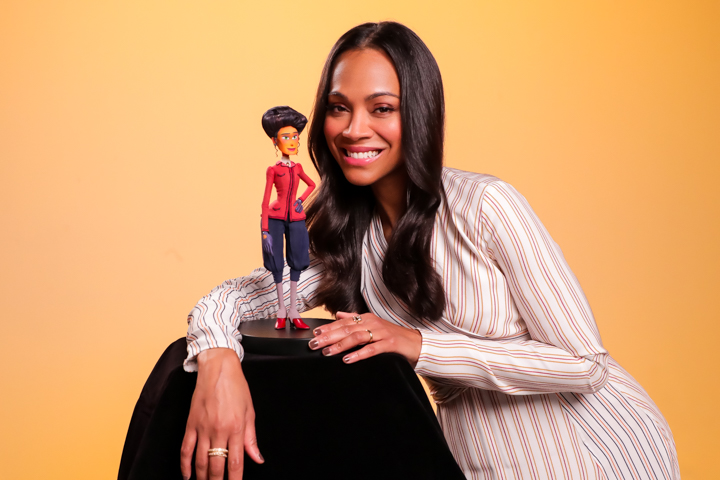 Missing Link movie interview with Zoe Saldana