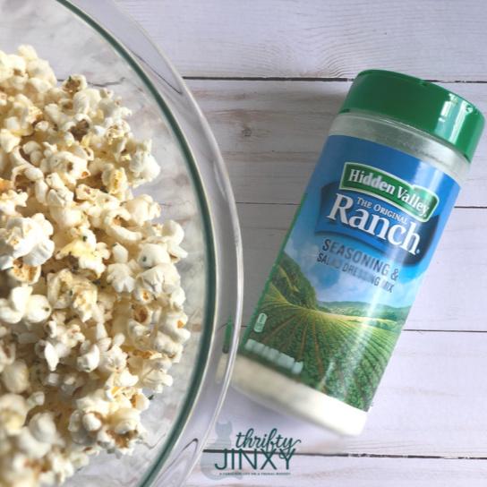 Hidden Valley Ranch Popcorn with Shaker