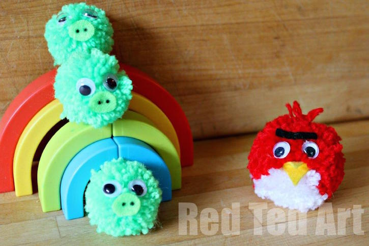 Angry Birds Pom Pom Kids Craft