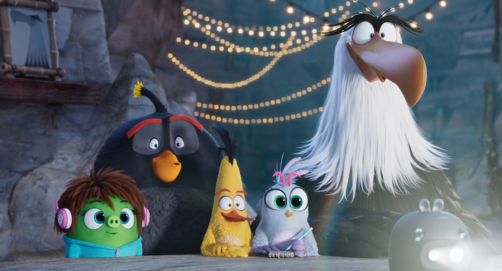 The Angry Birds Movie 2 Characters Bomb, Chuck, Silver, Mighty Eagle, Awkwafina