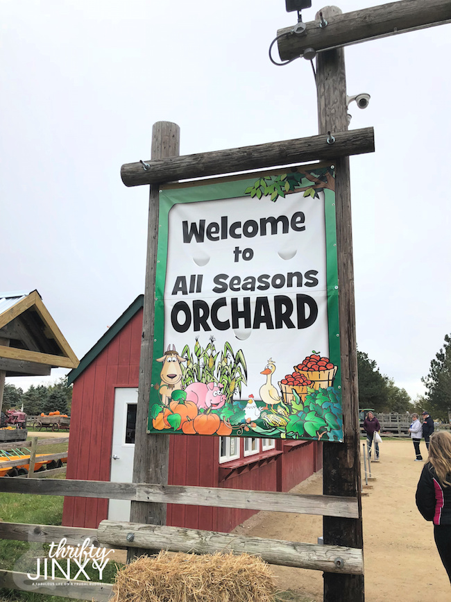 All Seasons Apple Orchard Sign