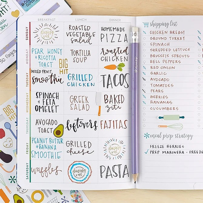 erin Condren Meal Planner Pages