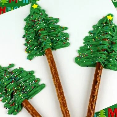 Christmas Tree Pretzels Recipe