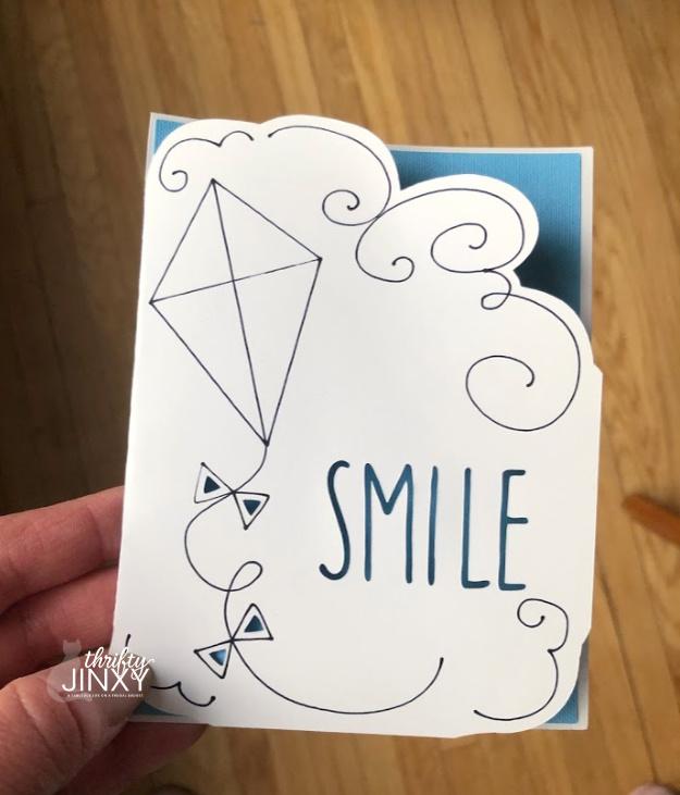 Cricut Smile Kite Card