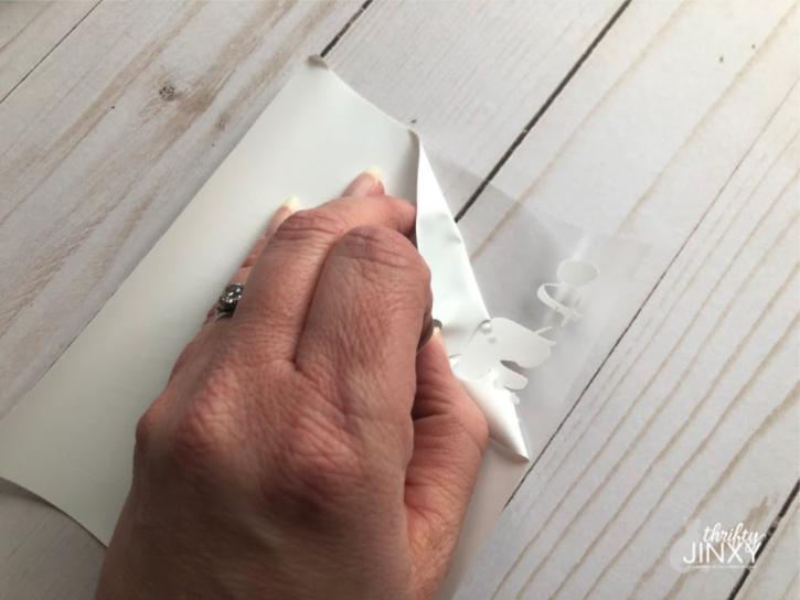 Peeling Backing from Cricut Iron On